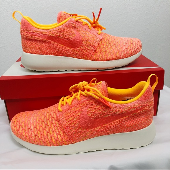 size 40 6001e 3f4f4 Nike Shoes | Roshe Flynit Laser Orangemango Rare Color | Poshmark